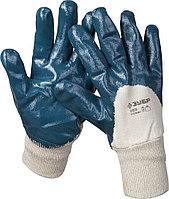 """Перчатки ЗУБР """"МАСТЕР"""" рабочие с манжетой, с нитриловым покрытием ладони, размер XL (10) 11273-XL"""