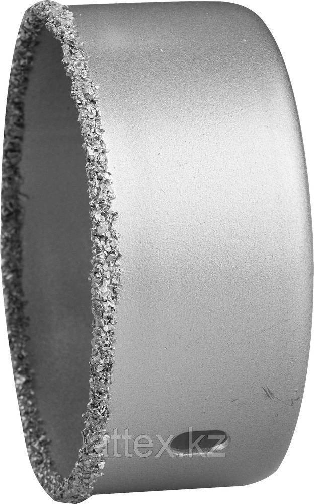"""Коронка-чашка ЗУБР """"ЭКСПЕРТ"""" с карбид-вольфрамовой крошкой, высота 25мм, 67мм"""