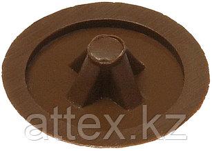 Заглушка декоративная под шуруп, цвет дуб, шлиц №2, 40шт, ЗУБР 4-308156-1
