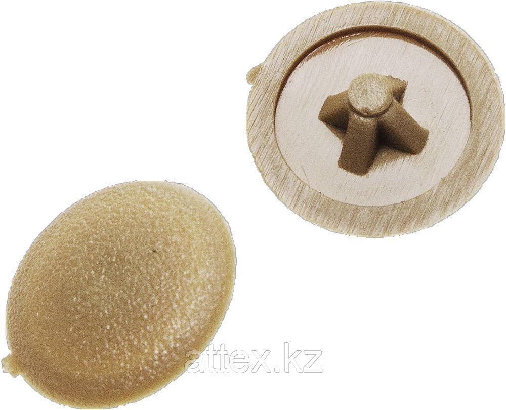 Заглушка декоративная под шуруп, цвет сосна, шлиц №2, 40шт, ЗУБР 4-308156-4