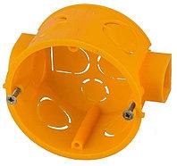 Коробка установочная СВЕТОЗАР для подштукатурного монтажа, макс напряж 400В, межцентр. Расстояние 71мм, 68х40мм, круглая SV-54903