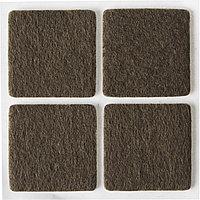 """Накладки STAYER """"COMFORT"""" на мебельные ножки, самоклеящиеся, фетровые, коричневые, квадратные - 25*25 мм, 4 шт 40912-25, фото 1"""