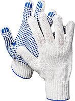 Перчатки трикотажные, 7 класс, х/б, с защитой от скольжения DEXX 11400_z01