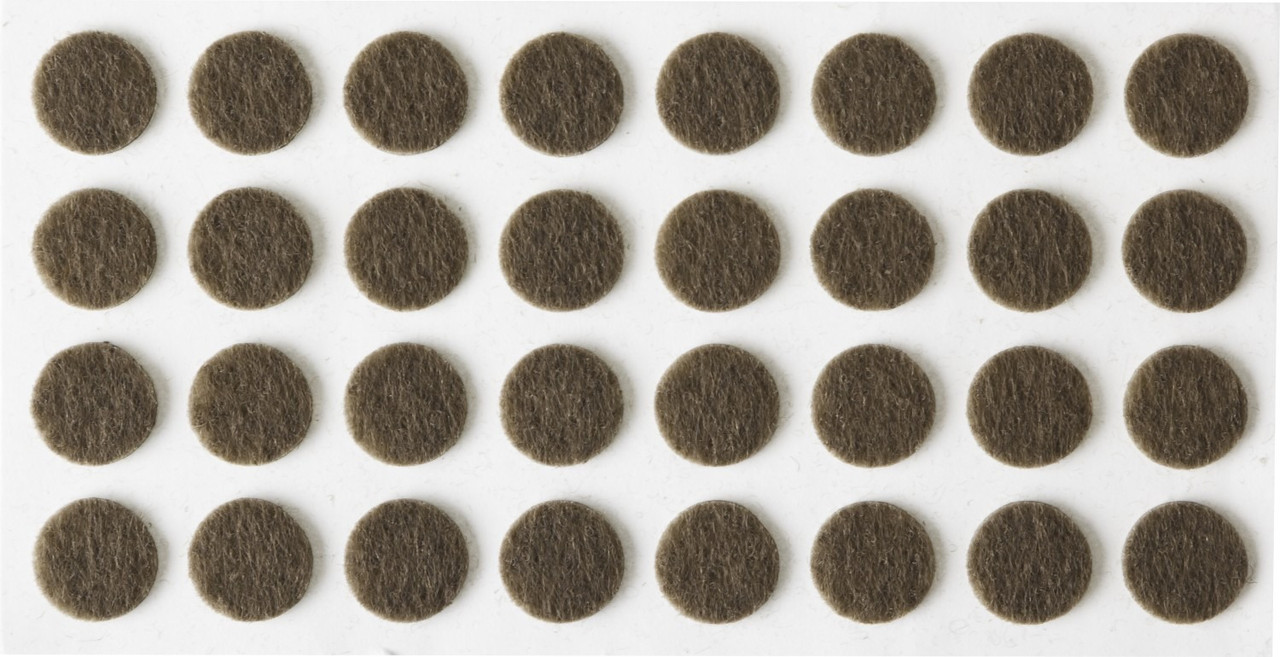 """Накладки STAYER """"COMFORT"""" на мебельные ножки, самоклеящиеся, фетровые, коричневые, круглые - диаметр 10 мм, 32 шт 40910-10"""
