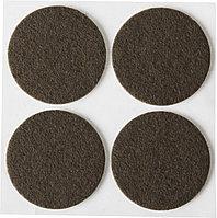 """Накладки STAYER """"COMFORT"""" на мебельные ножки, самоклеящиеся, фетровые, коричневые, круглые - диаметр 35 мм, 4 шт 40910-35, фото 1"""