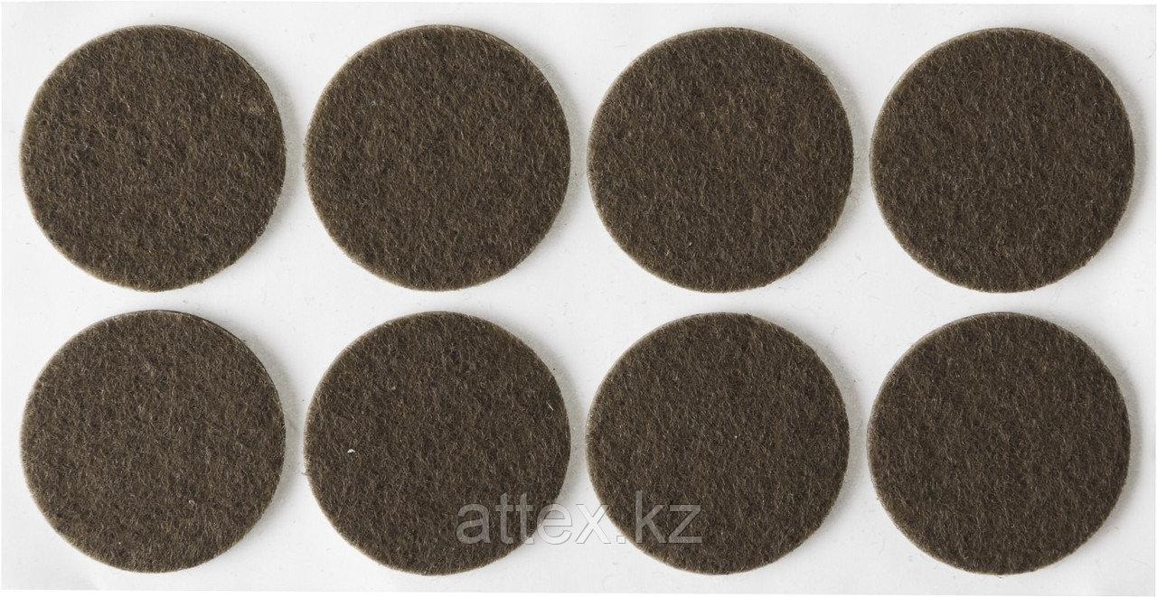 """Накладки STAYER """"COMFORT"""" на мебельные ножки, самоклеящиеся, фетровые, коричневые, круглые - диаметр 25 мм, 8 шт 40910-25"""