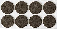 """Накладки STAYER """"COMFORT"""" на мебельные ножки, самоклеящиеся, фетровые, коричневые, круглые - диаметр 25 мм, 8 шт 40910-25, фото 1"""