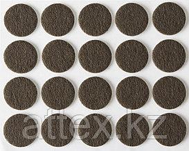 """Накладки STAYER """"COMFORT"""" на мебельные ножки, самоклеящиеся, фетровые, коричневые, круглые - диаметр 16 мм, 20 шт 40910-16"""