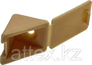 Уголок мебельный с шурупом, цвет сосна, 4,0x15мм, 4шт, ЗУБР 4-308256-4