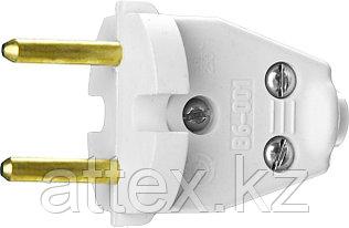 Вилка СИБИН электрическая, разборная, 6А/220В, белая 55152-W