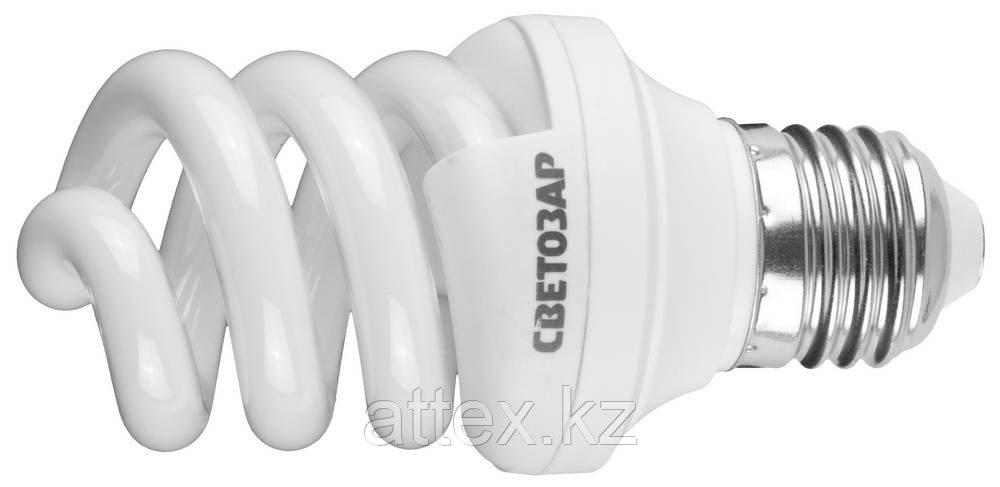 """Энергосберегающая лампа СВЕТОЗАР """"ЭКОНОМ"""" спираль,цоколь E27(стандарт),Т3,яркий белый свет(4000 К),  44354-09_z01"""