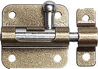 """Задвижка накладная для окон и мебели """"ШП-10 КМЦ"""", цвет коричневый металлик/цинк, 30мм  37743-30"""