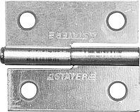 """Петля дверная STAYER """"MASTER"""" разъемная, цвет белый цинк, правая, 50мм 37613-50-1R"""