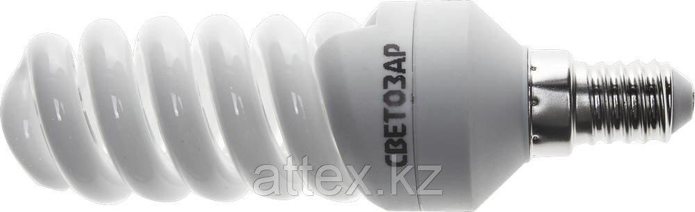 "Энергосберегающая лампа СВЕТОЗАР ""КОМПАКТ"" спираль,цоколь E14(миньон),Т2,теплый белый свет(2700 К),  44351-12_z01"