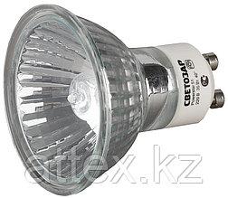 Мощность 75ВТ, Тип цоколя GU10, напряжение 220В, диаметр 51мм, СВЕТОЗАР, SV-44827