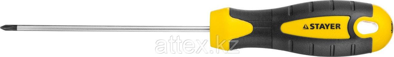 "Отвертка STAYER ""MASTER"" ""ТECHNO"", двухкомпонентная рукоятка, магнитный наконечник, Cr-V, PH0x100мм  2508-0-10_z02"