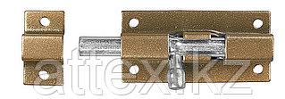 """Задвижка накладная для окон и мебели """"ШП-40 КМЦ"""", цвет коричневый металлик/цинк, 40мм  37753-40"""