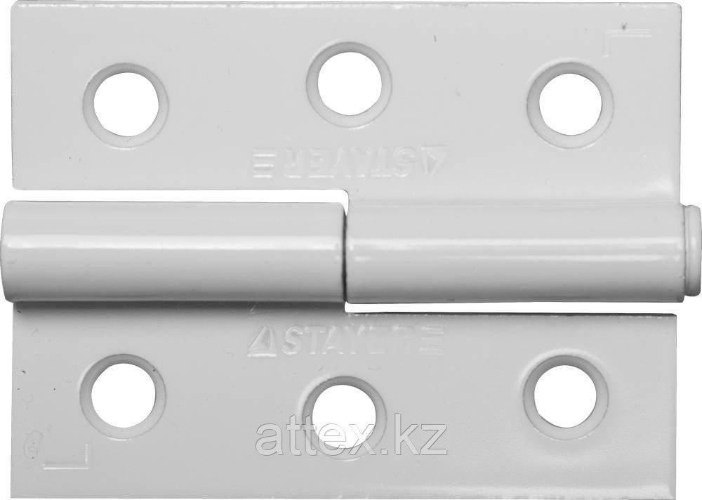 """Петля дверная STAYER """"MASTER"""" разъемная, цвет белый, левая, 65мм 37613-65-2L"""