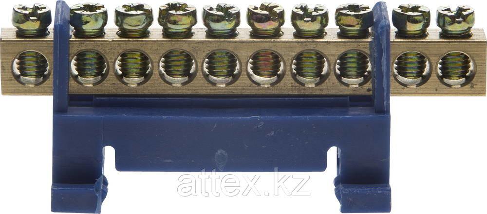 """Шина СВЕТОЗАР нулевая на изоляторе типа """"Стойка""""макс. ток 100А, 5,2мм, 10 полюсов 49806-10"""