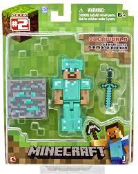 Minecraft 16504 Diamond Steve Бриллиантовый Стив с аксесс. 8см