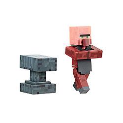Minecraft Фигурка Майнкрафт Житель Кузнец, 7 см
