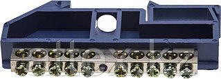 Шина СВЕТОЗАР нулевая на DIN-изоляторе, макс. ток 100А, 5,2мм, 10 полюсов 49807-10