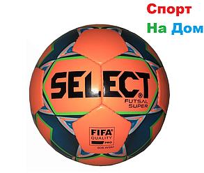 Футбольный мяч Select кожаный (размер 4) сшитый, фото 2