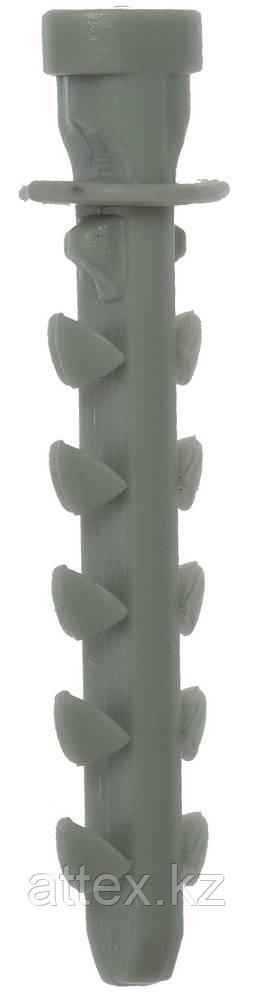 Дюбель для трубной клипсы нейлоновый 6 х 35 мм, 100 шт, ЗУБР Мастер 4-44953-06-035