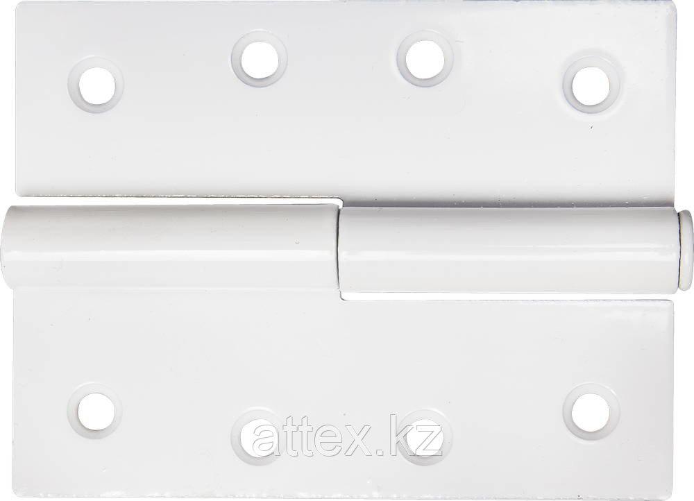 """Петля дверная STAYER """"MASTER"""" разъемная, цвет белый, левая, 100мм 37613-100-2L"""