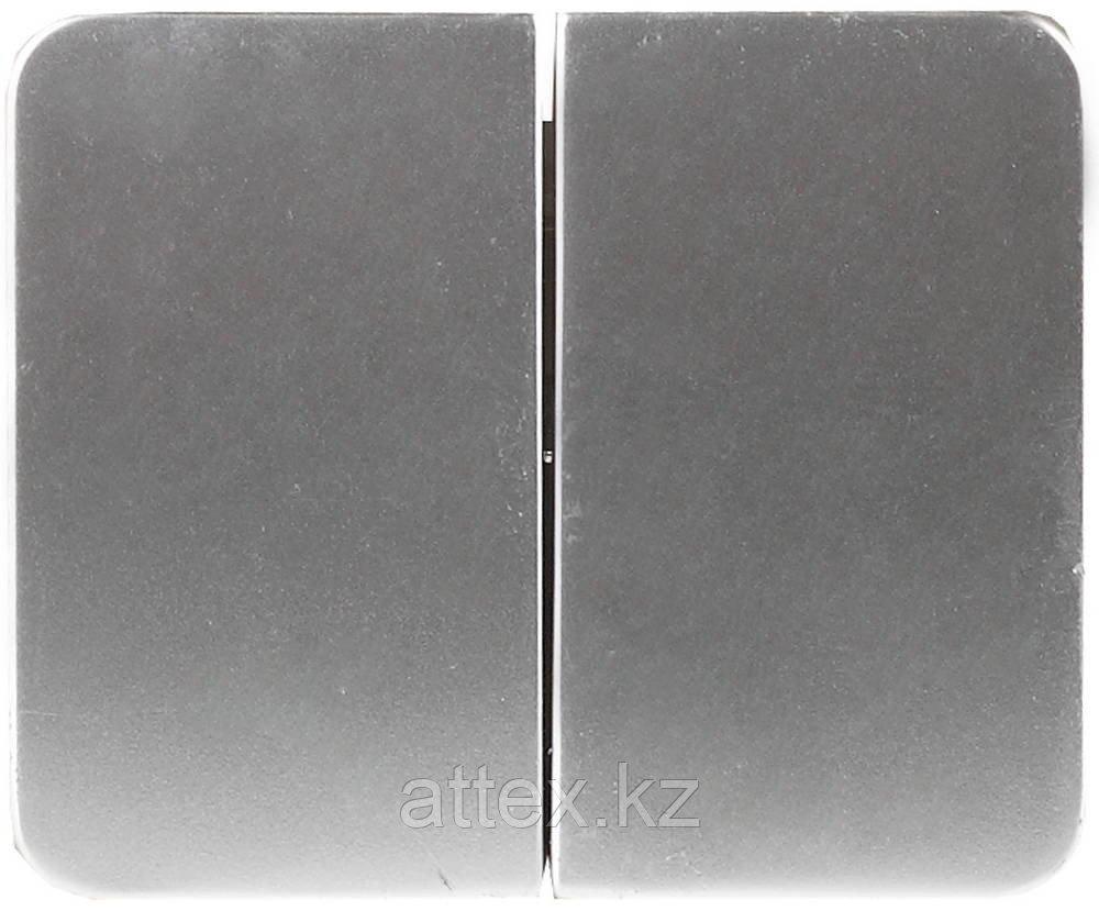 Двухклавишный, без вставки и рамки, 10А, 250В, СВЕТОЗАР, ГАММА, SV-54134-SM
