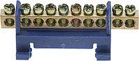 Шина СВЕТОЗАР нулевая, в изоляц оболочке, 6х9мм, 12 полюсов, макс. ток 100А 49805-12