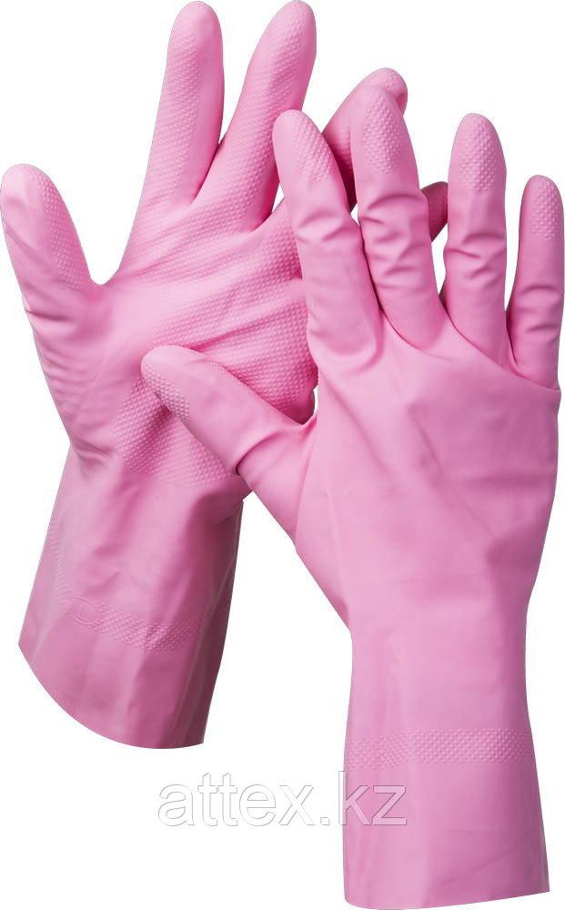 """Перчатки ЗУБР """"МАСТЕР"""" латексные, повышенной прочности, х/б напыление, рифлёные, 100% латекс, 100% хлопок, размер S 11250-S"""