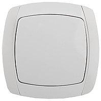 """Выключатель СВЕТОЗАР """"CITY LIGHT"""" проходной одноклавишный в сборе, белый, 10А/~250В SV-54237-W"""