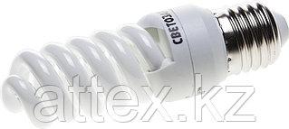 "Энергосберегающая лампа СВЕТОЗАР ""КОМПАКТ"" спираль,цоколь E27(стандарт),Т2,яркий белый свет(4000 К),  44454-12_z01"
