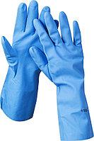 Перчатки ЗУБР нитриловые, повышенной прочности, с х/б напылением, размер L 11255-L