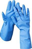 Перчатки ЗУБР нитриловые, повышенной прочности, с х/б напылением, размер M 11255-M