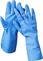 Перчатки ЗУБР нитриловые, повышенной прочности, с х/б напылением, размер XL 11255-XL