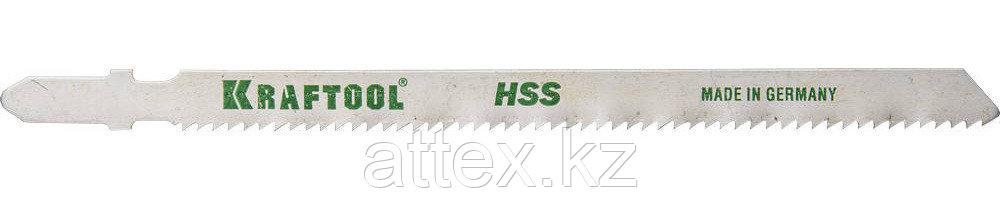Полотна KRAFTOOL, T318B, для эл/лобзика, HSS, по металлу (2,5-6мм), EU-хвост., шаг 2мм, 110мм, 2шт 159552-2