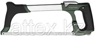 Ножовка по металлу KRAFTOOL GRAND, быстрое рычажное натяжение, биметаллическое полотно, обрезиненные  15802_z01