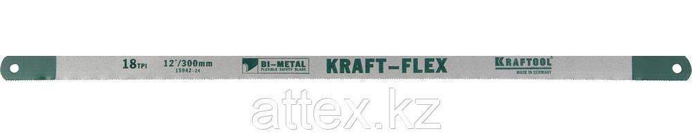 "Полотно KRAFTOOL ""KRAFT-FLEX"" по металлу, Bi-Metal, 18TPI, 300 мм, 2 шт 15942-18-S2"