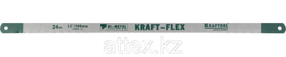 Полотно по металлу Kraftool 15942-24-S2, 24TPI, 300мм, 2шт