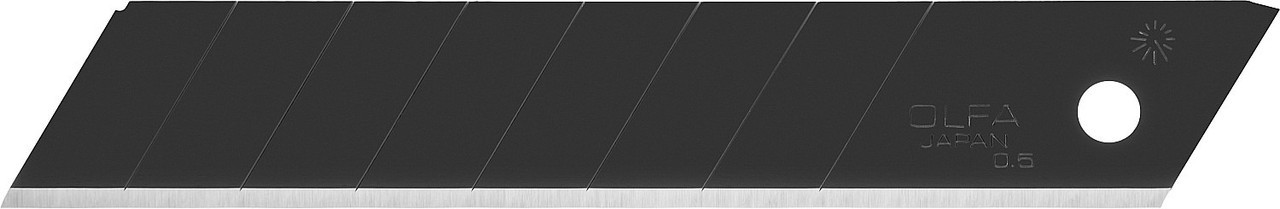 Лезвие OLFA BLACK MAX сегментированное, 8 сегментов, 18х100х0,5мм, 50шт OL-LBB-50B