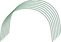 Дуги для парника GRINDA проволочные 1,7м, 6шт 422311-60-85