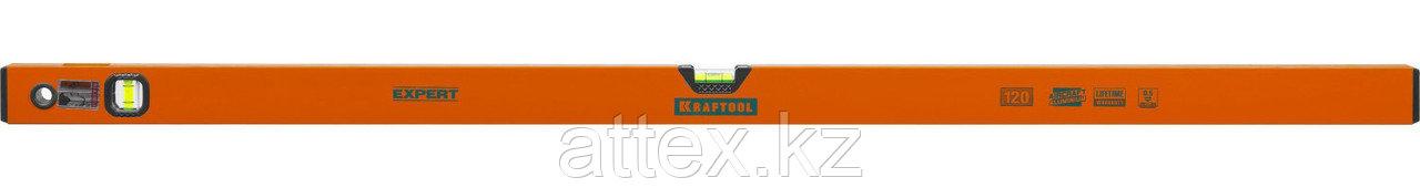 "Уровень коробчатый ""EXPERT"", KRAFTOOL 34710-120, 2 ампулы, 0,5 мм/м, 1200мм  34710-120_z01"
