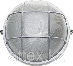 Светильник уличный СВЕТОЗАР влагозащищенный с решеткой, круг, цвет белый, 60Вт SV-57255-W