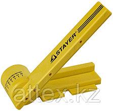 """Стусло STAYER """"PROFI"""" поворотное, с магнитной направляющей, ударопрочный ABS - пластик, неограниченный размер заготовки, угол реза от 15 до 180град"""