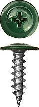 Саморезы с прессшайбой по металлу до 0,9 мм, RAL-6005, PH2, 4,2х19 мм, 450шт, ЗУБР Мастер 300191-42-019-6005