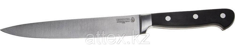 """Нож LEGIONER """"FLAVIA"""" нарезочный, пластиковая рукоятка, лезвие из молибденванадиевой стали, 200мм 47922"""