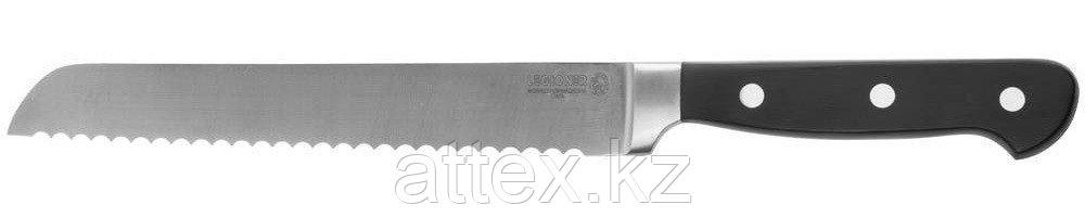 """Нож LEGIONER """"FLAVIA"""" хлебный, пластиковая рукоятка, лезвие из молибденванадиевой стали, 200мм 47923"""