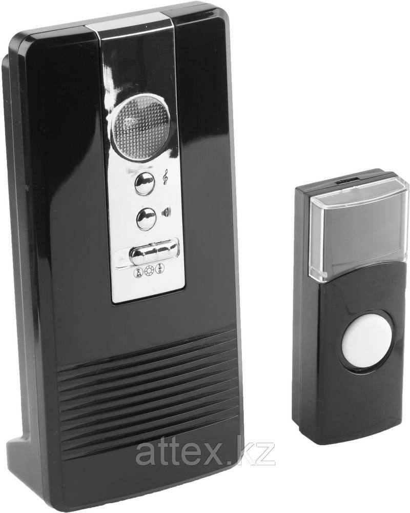 "Звонок СВЕТОЗАР ""КАРАТ"" электр беспровод 100м, 36 полиф мелодий, 3 режима индикации, программ.кнопка IP44, CR2032, 3AA 58074"